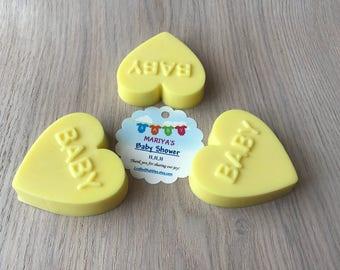 Baby Shower Soap (Set of 10) / Baby Shower Favor / Glycerin Soap/ Custom Gift Tag