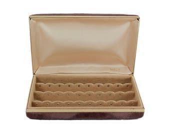 Vintage MELE Jewelry Clutch, MELE Travel Jewelry Box, MELE Earring Case, Mid Century Jewelry Case, Jewelry Storage, Retro Jewelry Box