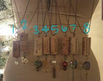 Wine Cork Pendant Necklaces ~ Car Charms