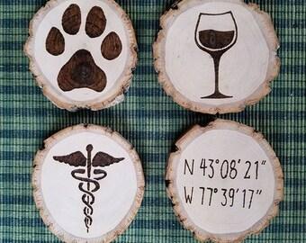 Customized Wood Coasters - set of 4