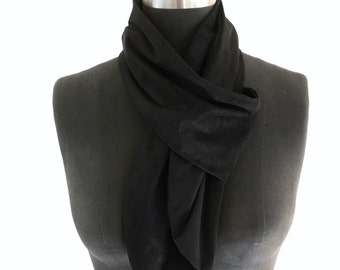 Black Suede Scarf Minimal (synthetic)