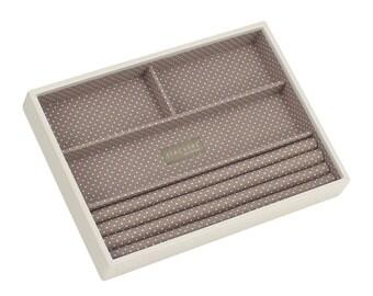 Stackers Vanilla & Mocha Classic 4 Section Jewellery Tray LC70919