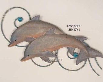 Dolphins on Wave Wall Art - CW156SP