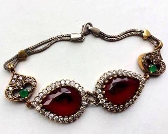 silver ottoman bracelet for her