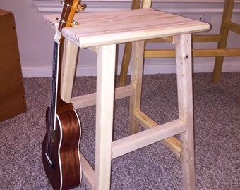 Handmade stool, wooden stool, Guitar stool, stool, kids stool, home decor, music, handmade