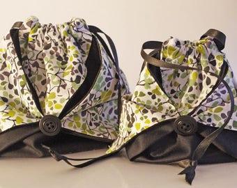 Duo green liberty origami purse
