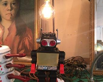 1960s Japanese Robot Lamp