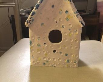 Cool clay bird house