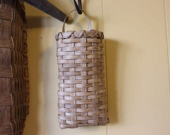 Pocket Basket, Handwoven Basket, Wall basket, Flower Basket,  Handmade Basket