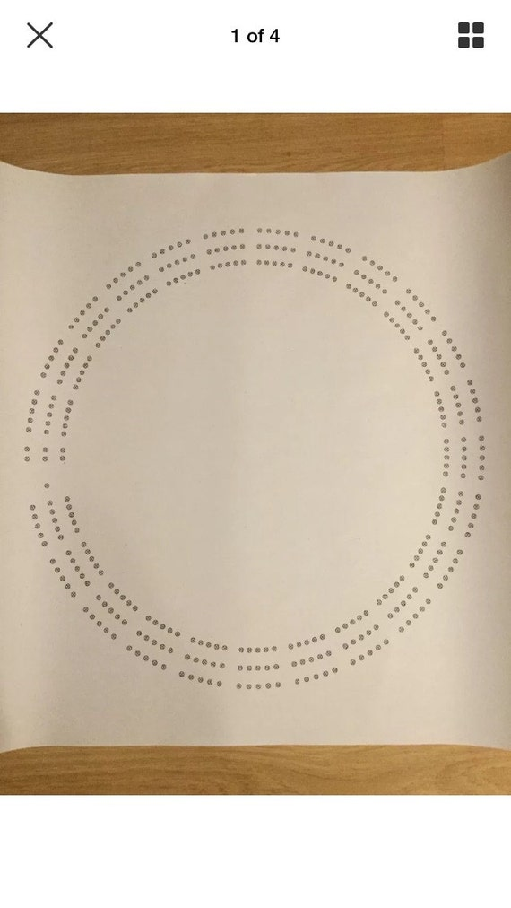 Large round cribbage board hole pattern paper template for Cribbage board drilling templates