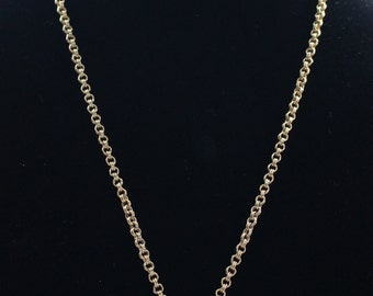 Vintage Sarah Coventry Gold Tone Chain Link Necklace with Etched Pendant for Attachments