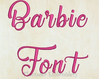 Barbie Embroidery Font 5 Size Embroidery Designs Fonts INSTANT DOWNLOAD