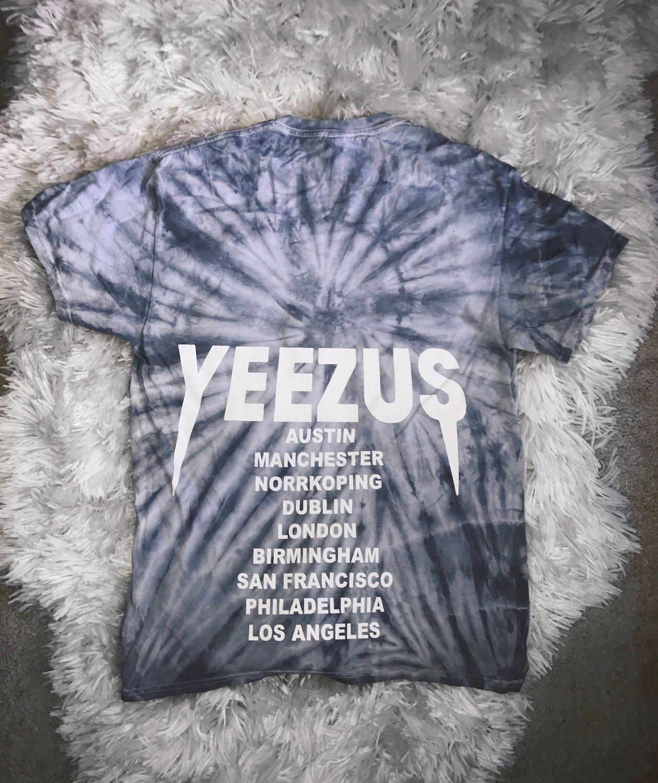 Design your own t shirt dublin - Silver Tie Dye Yeezus Tour Merch Kanye West Yeezy Saint Pablo Tour Merch