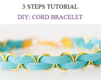 TUTORIAL Cord bracelet / Leather bracelet patterns/How to make bracelet /DIY  leather bracelet/Tutorials and patterns/Leather craft pattern