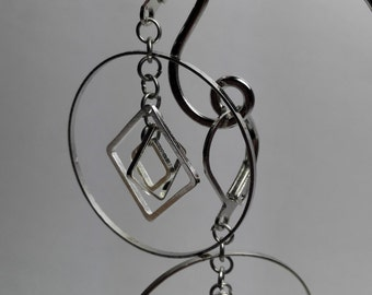 Earrings Silver Sqares
