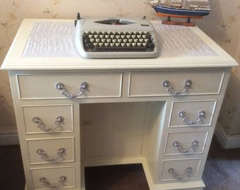 Vintage Antique style kneehole shabby chic desk