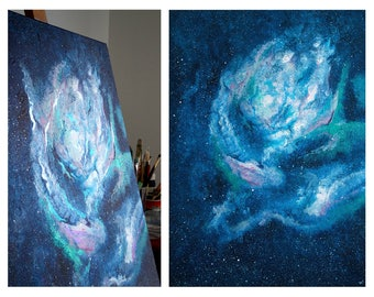 Tranquility - Original Abstract Painting - 50x70cm. (19.6''x27.5'') - Celestial Art