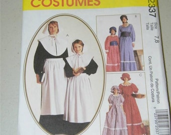 McCall's Prairie Costume Pattern 2337 Size 7 8 Girl 12803