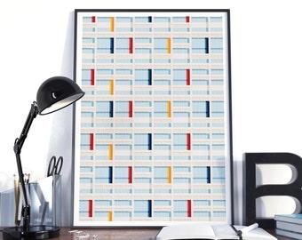 Poster graphic design poster architecture illustration Le Corbusier S04 complete