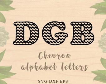 Chevron letters svg Font svg Chevron alphabet svg Font EPS files DXF files Cricut files Cricut downloads Silhouette files inspirational svg