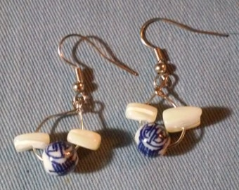 Blue Glass Bead Earrings