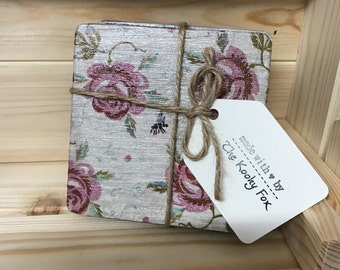 Hand Decoupage Wooden Coasters