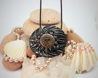 Shoney, Orgone Pendant, chakra necklace, nature spirits, EMF protection,