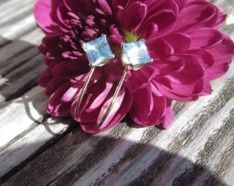 Bluestar Topaz Earrings