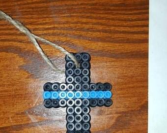 Thin Blue Line Cross Etsy