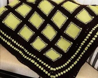 Hand knitted blanket - Afghan - blankie