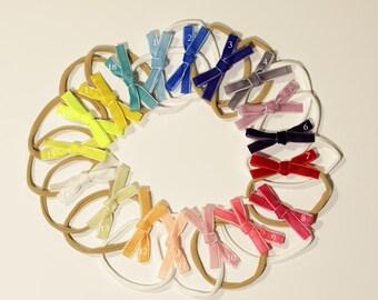 Velvet Ribbon Bows, thin