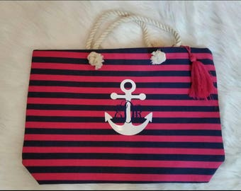 Huge Striped Beach Tote!