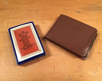 Vintage Retro Alytaus Bar Playing Cards & Vinyl Wallet House of Champions Detroit Home of the Kushmakers