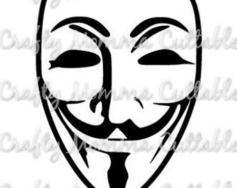 Anonymous Mask SVG file // Guy SVG // Anonymous Cut File // Anonymous Mask SVG / Cut File / Silhouette File / Cutting File