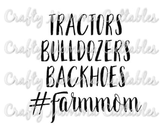 Boy Mom SVG file // #boymom SVG // Farm mom Cut File // Farmer's mom Silhouette File // Farmer's wife Cutting File // Farm SVG file