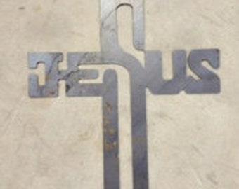 JESUS Cross owder coated 12x8