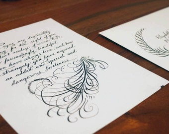 Love letter on Stratmore writing paper - Custom calligraphy love letter to that special someone