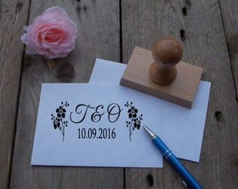 Wedding stamp with initials / wedding