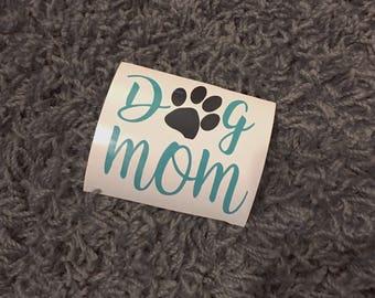 Dog Mom Decal, Dog Mom Car Decal, Dog Mom Laptop Sticker, Dog Mom, Dog, Animals, mug decal