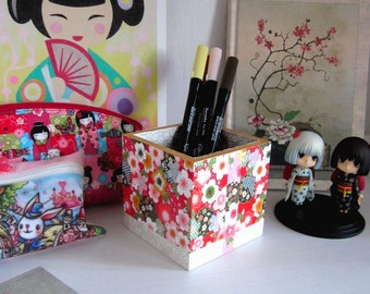 Pencils storage Japanese pattern cherry bloom pot - Type C