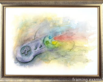 Watercolor Controller Painting SNES #2