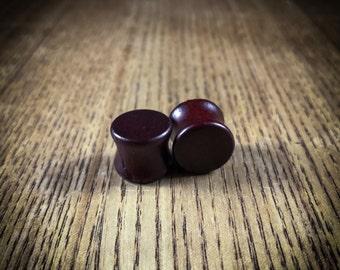 Dark brown, wooden tunnel, ear plug, ear gauge, ear stretcher, piercig plug, sizes 10-14mm