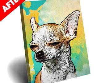 Digital Pop Art Custom Pet Canvas Paint Background