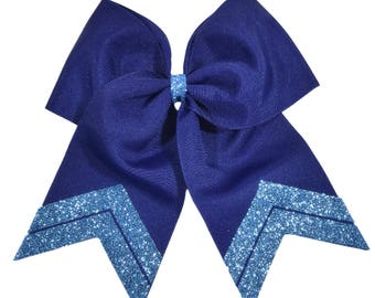 Glitter Tail Cheer Bow-ONLY 3.99 EACH- All Team Colors Available-Fast Shipping-Top Quality Materials-Custom Cheer Bow