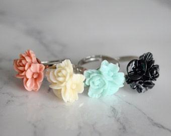 Flower Girl Adjustable Ring Gift Dainty Dawn