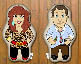 Married With Children Al &Peggy Bundy Double Sided Pillow Buddy