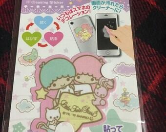 Little Twin Stars IT Cleaning Sticker from Japan Kawaii