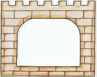 Castle Cardstock Frame My Mind's Eye Frame Up's Scrapbook  Embellishments Cardmaking Crafts