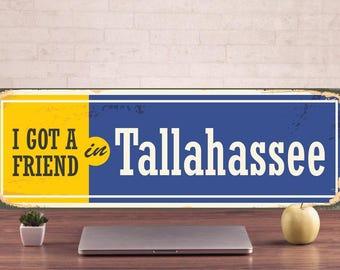 Tallahassee Signs, Tallahassee Sign, Tallahassee Decor, Tallahassee Art Prints, Tallahassee Metal Sign, Tallahassee Art, Metal Signs