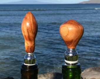 SALE - Pair of Norfolk Pine bottle stoppers